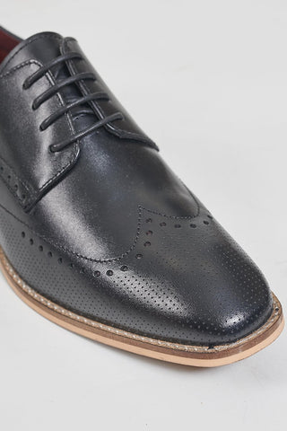 Cavani Rome Black Brogues