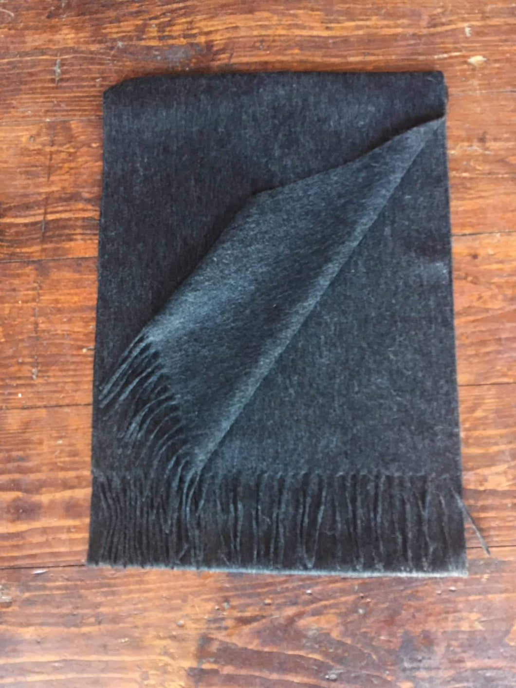 Charcoal Pure Lambswool Scarf