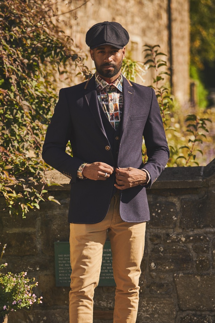 Claudio Lugli 2 Piece and Shirt with Sand Chinos claudio-lugli-navy-2-piece-jacket-and-waistcoat / claudio-lugli-beige-boxer-cards-shirt / blend-sand-brown-chinos