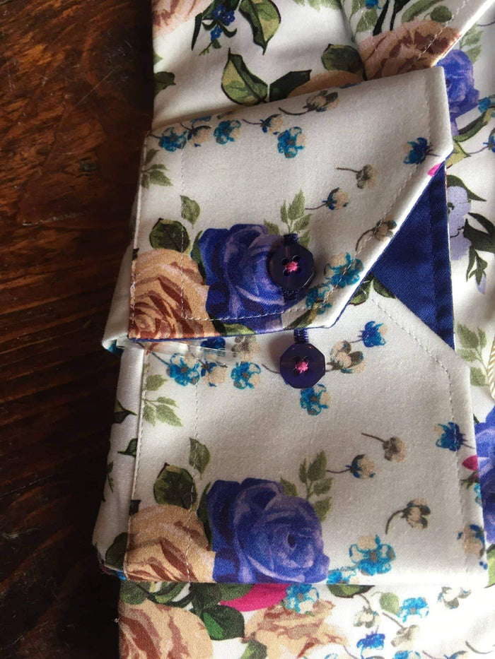 Claudio Lugli White Shirt With Rose Print