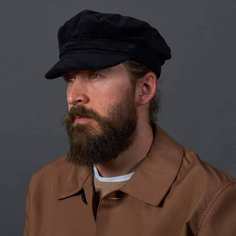 Courdaroy Mariner Hat - Black