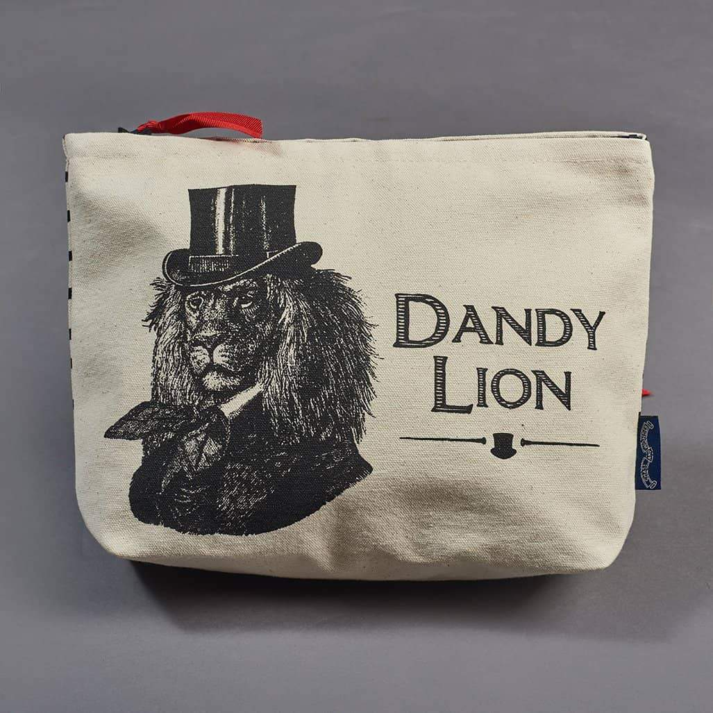 Dandy Lion Screen Printed Wash Bag