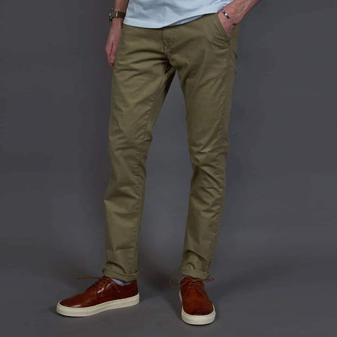 DML Stone Slim Fit Chino Trousers 30R / Stone