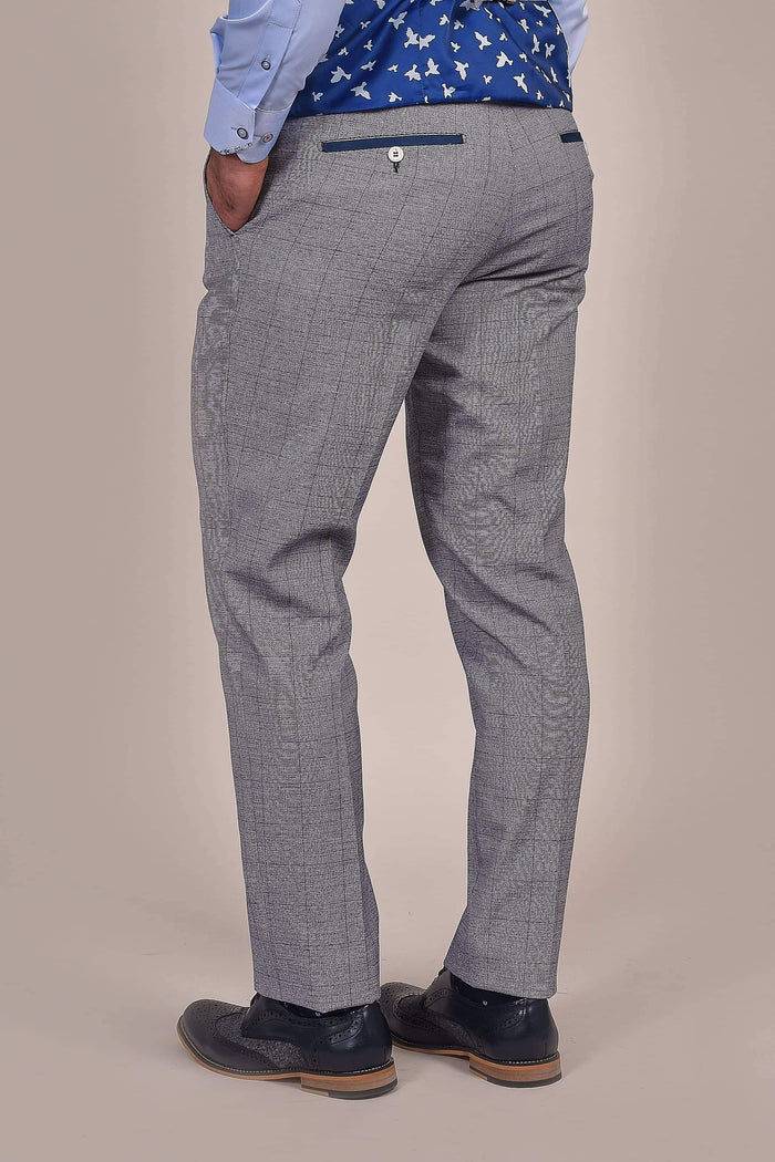 Fratelli Fratelli Light Blue With Navy Check Trousers £27.50