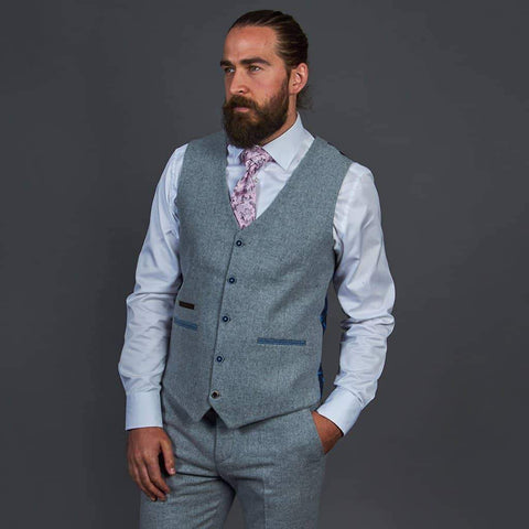 Fratelli Plain Light Grey Waistcoat