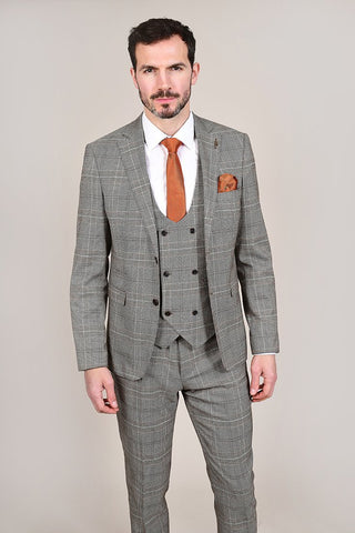 Fratelli Tan Prince Of Wales Check Blazer 36R