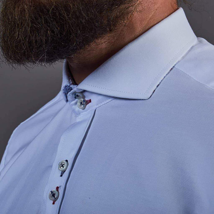Fratelli White Shirt With Contrast Stitching