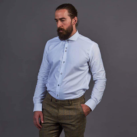 Fratelli White Shirt With Contrast Stitching M / White