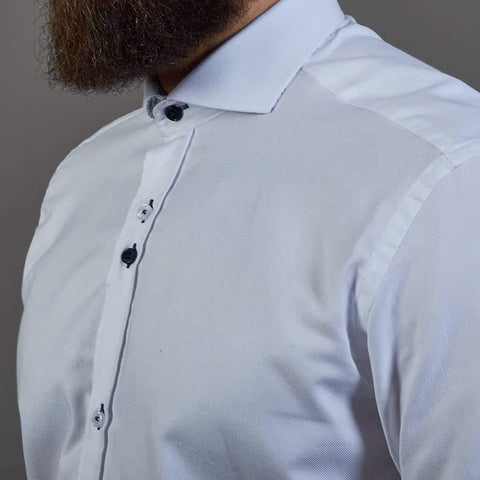 Fratelli White Shirt with Cut Away Collar M