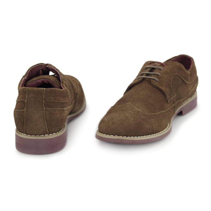 Front Fadden 2 Suede Shoe - Brown