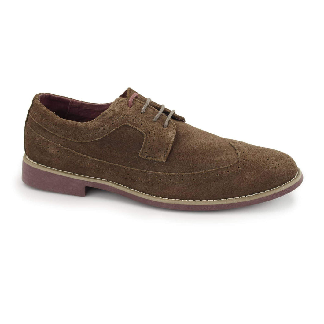 Front Fadden 2 Suede Shoe - Brown 6