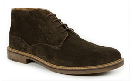 Front Houston Suede Chukka Boot With Brogue Detailing - Brown 6