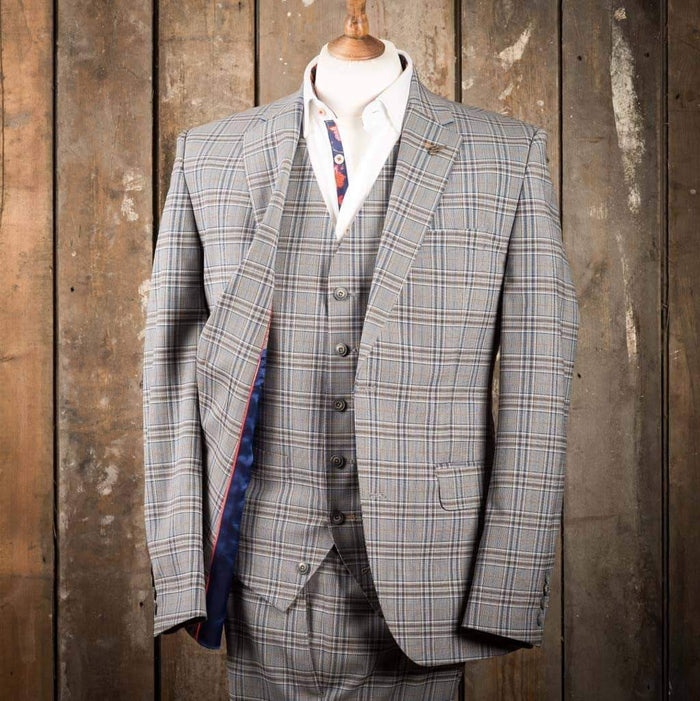 Gibson London Grey check suit