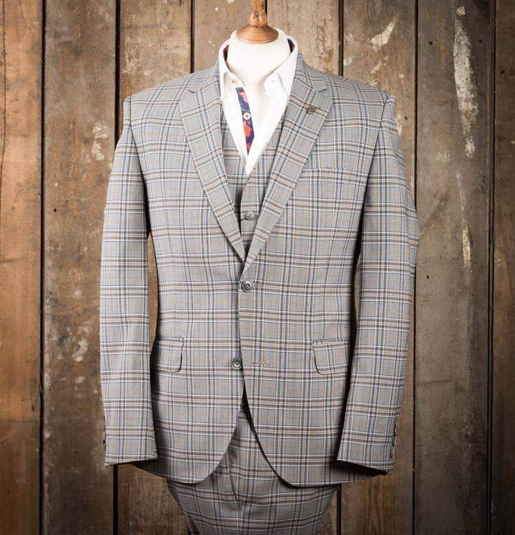 Gibson London Grey check suit 38 / 38 / 32R