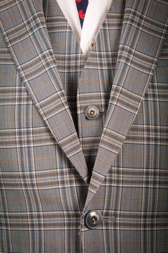 Gibson London Grey Check Suit Jacket - (part of a 3 piece suit)