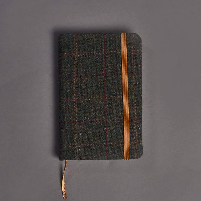 Green Check Tweed Notebook