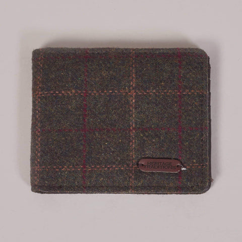 Green Check Tweed Wallet