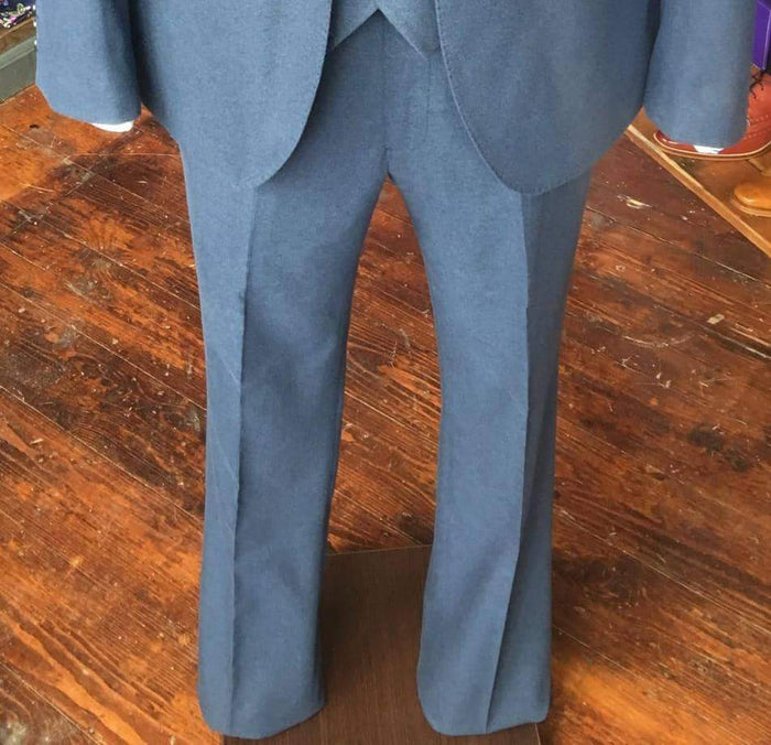 Guide London Classic Soft Touch Suit Trousers - Airforce Blue