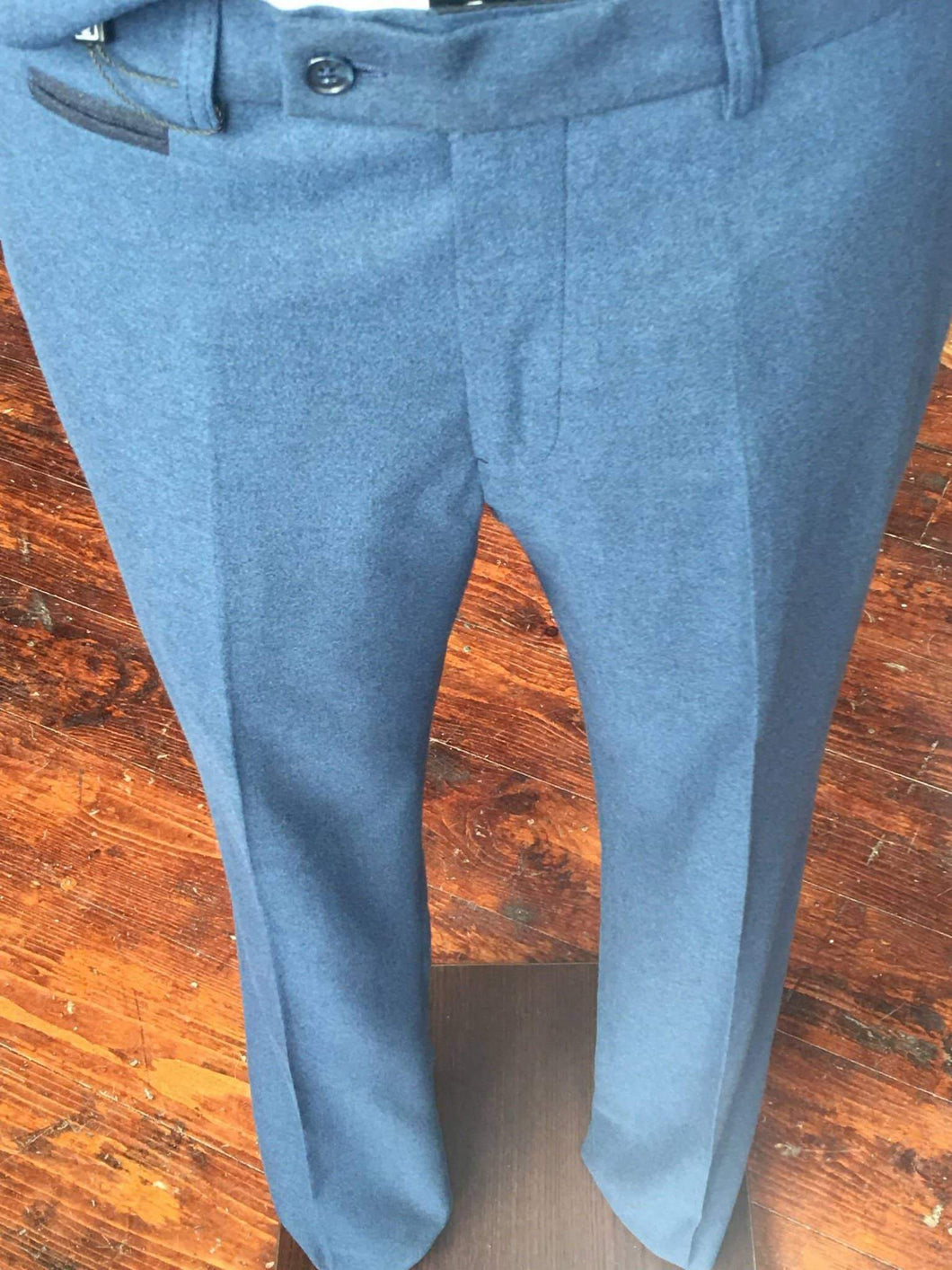 Guide London Classic Soft Touch Suit Trousers - Airforce Blue 30R