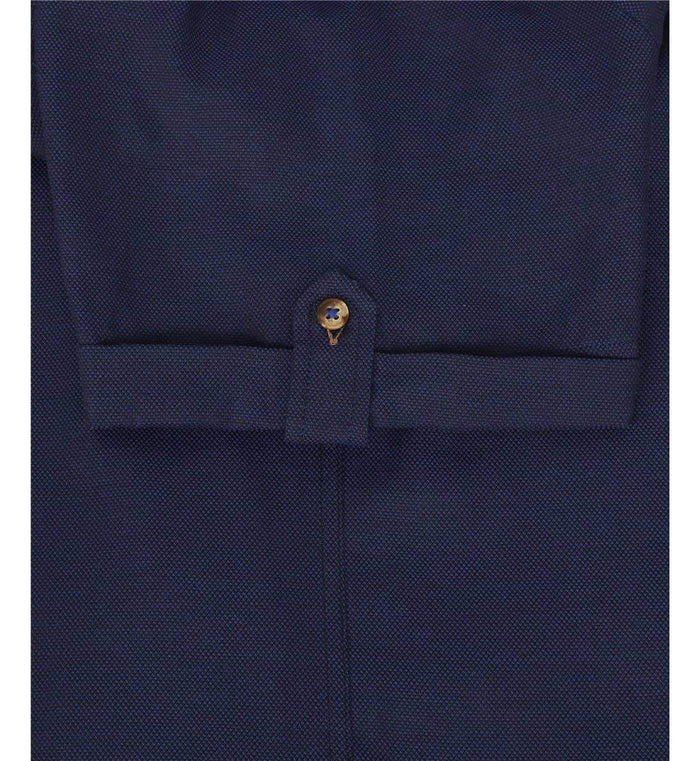 Guide London Cotton Short Sleeve Oxford Shirt - Navy