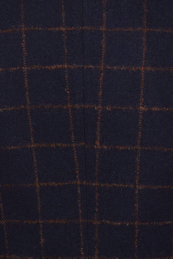 Guide London Navy Rust Check Tweed Trousers