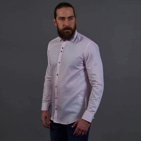 Guide London Pink Smart Fine Cotton Shirt