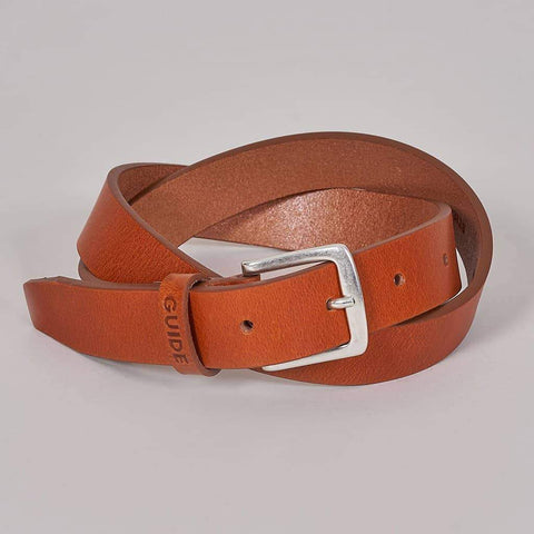 Guide London Plain Tan Belt 32 / tan