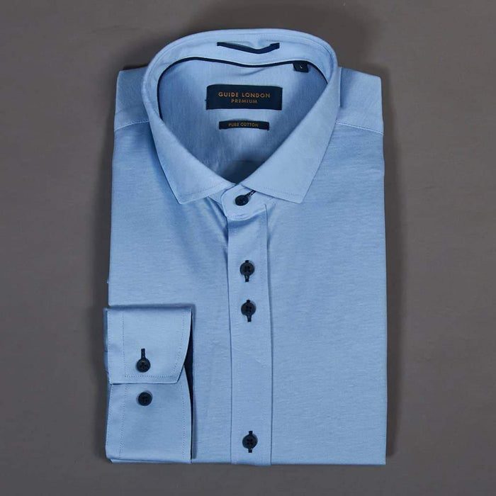 Guide London Sky Blue Long Sleeve Jersey Shirt