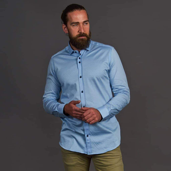 Guide London Sky Blue Long Sleeve Jersey Shirt S / blue