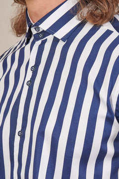 Guide London Guide London White & Navy Stripe Shirt £35.00