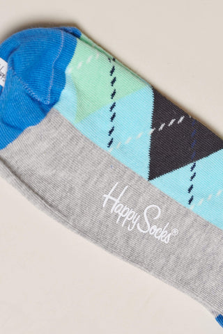 Happy Socks Argyle Socks - Blue, Green and Black M/L