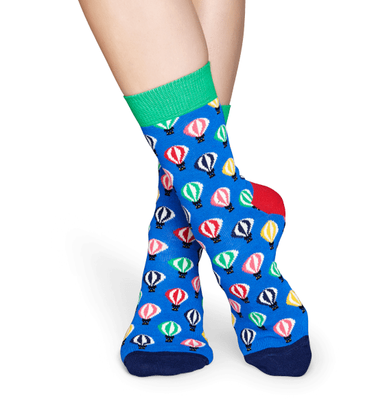 Happy Socks Balloon Socks - Blue, Green, Red, White, Yellow Blue, Green, Red, White, Yellow