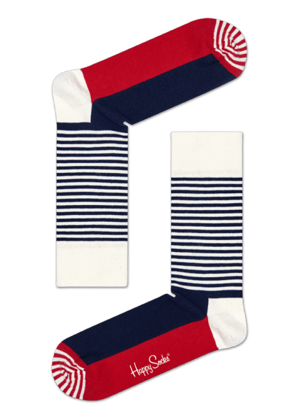 Happy Socks Big Dot 4 Pack Gift Box - Blue, Red, White Blue, Red, White