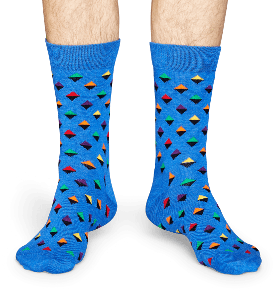 Happy Socks Mini Diamond Socks - Blue, Green, Orange, Purple, Red, Yellow Blue, Green, Orange, Purple, Red, Yellow
