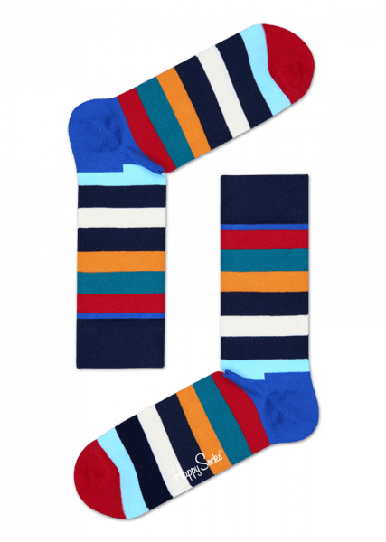 Happy Socks Mix Socks 4 Pack Gift Box Blue, Green, Orange, Red, White, Yellow