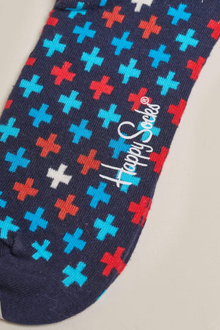 Happy Socks Plus Socks - Navy, Blue and Red M/L