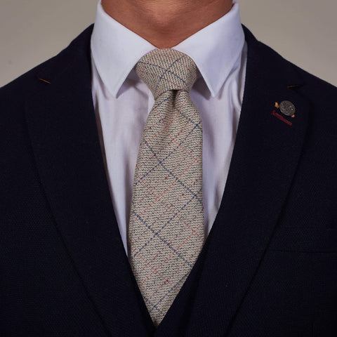 Harding Cream Tweed Style Check Tie