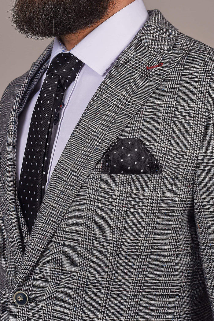 Harry Brown Harry Brown Grey Prince Of Wales Check Blazer £42.00