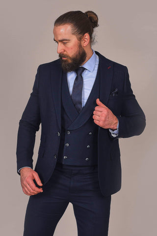 Harry Brown Harry Brown Navy Herringbone Blazer £46.00