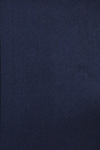 Harry Brown Navy Herringbone Trousers 30R