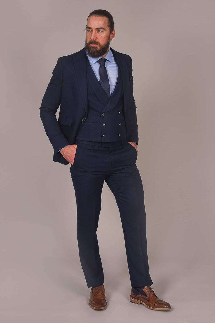 Harry Brown Harry Brown Navy Herringbone Trousers £22.00