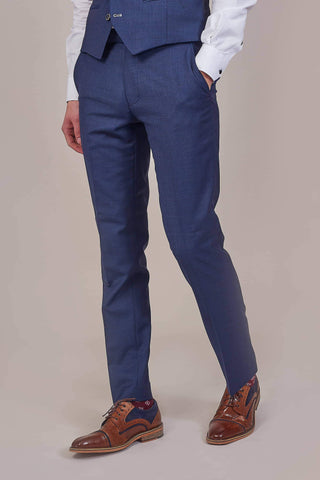 Herbie Frogg Navy Wool Trousers 30R