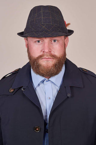 Heritage Traditions Feather Blue Box Trilby