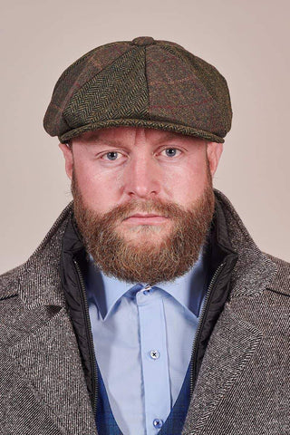 Heritage Traditions Heritage Traditions Green Patchwork Newsboy Cap £14.99
