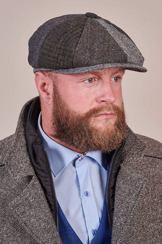 Heritage Traditions Heritage Traditions Grey Patchwork Newsboy Cap £14.99