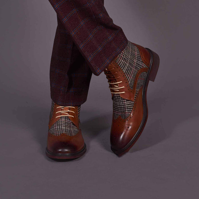 Justin Reece Brown Alvin Brogue Boots