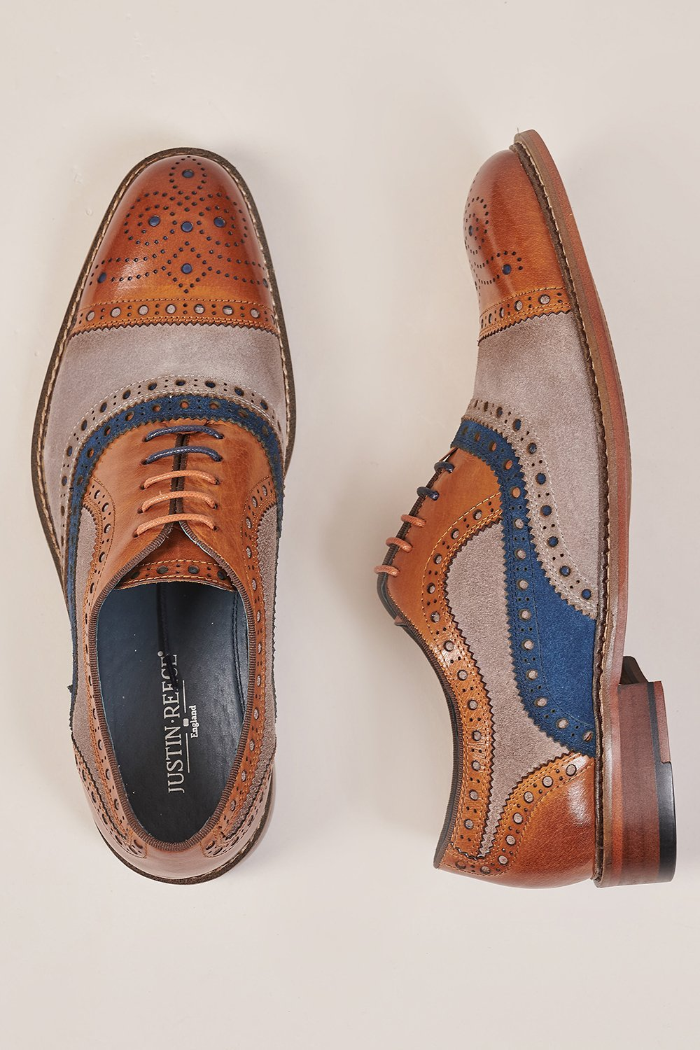 Justin Reece Justin Reece Brown Leather & Contrast Suede Brogue £69.00