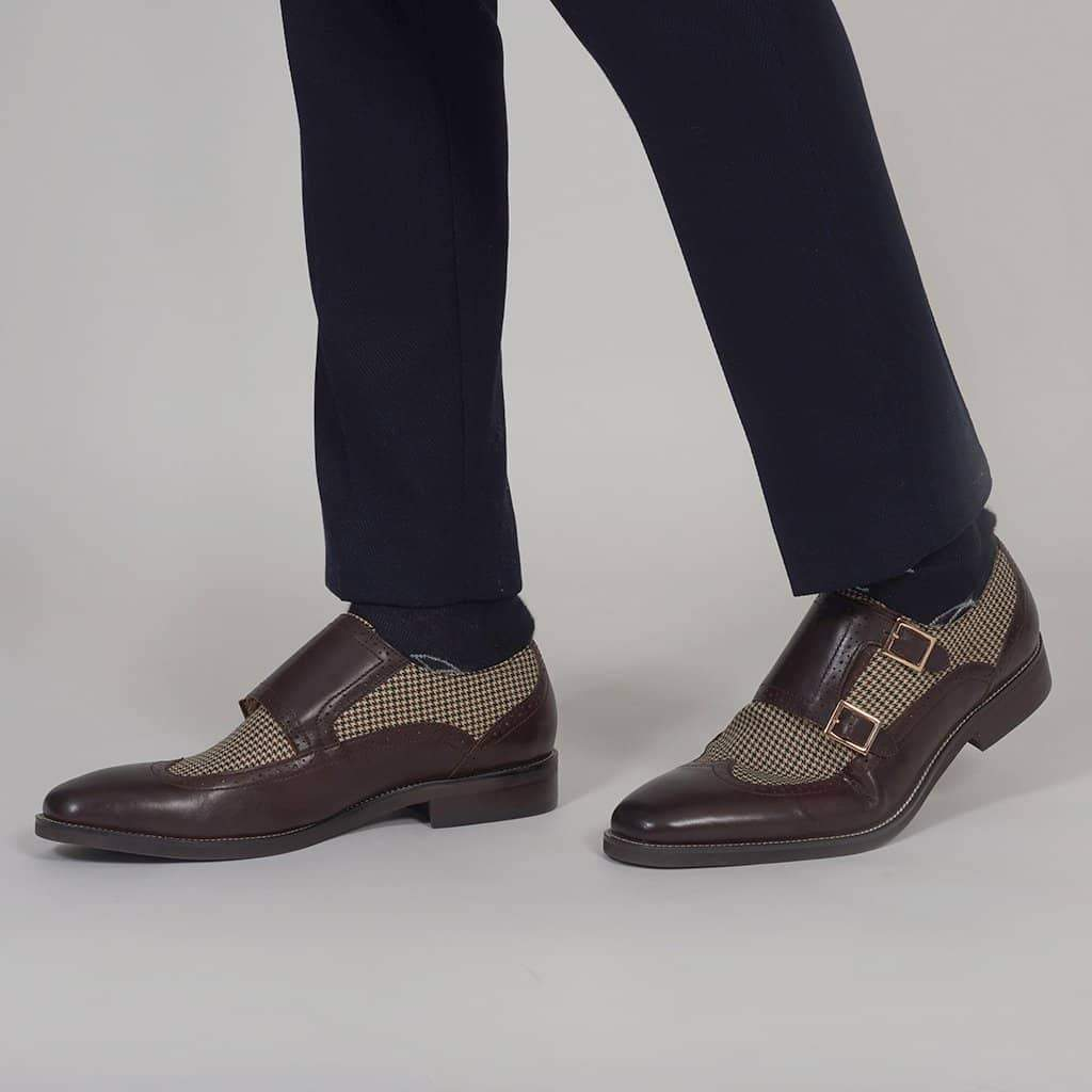 Justin Reece Gabby Coffee Monk Strap Shoes 6 / Coffee