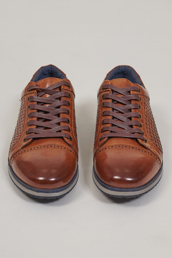 Justin Reece Paddy Sneaker In Tan