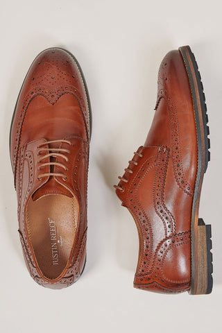 Justin Reece Rudolph Brogues In Brown